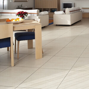Tiled floor finishes